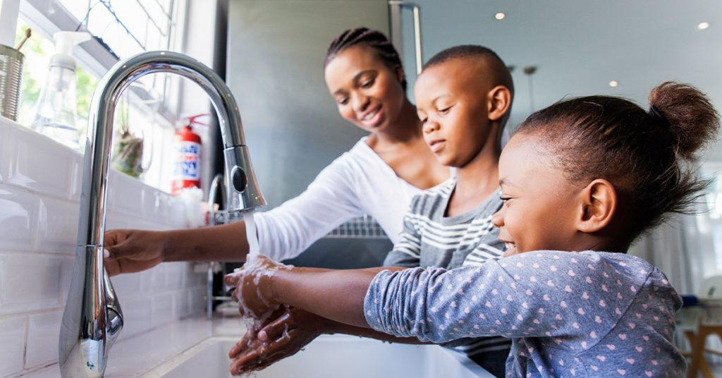 teach your children how to wash their hands